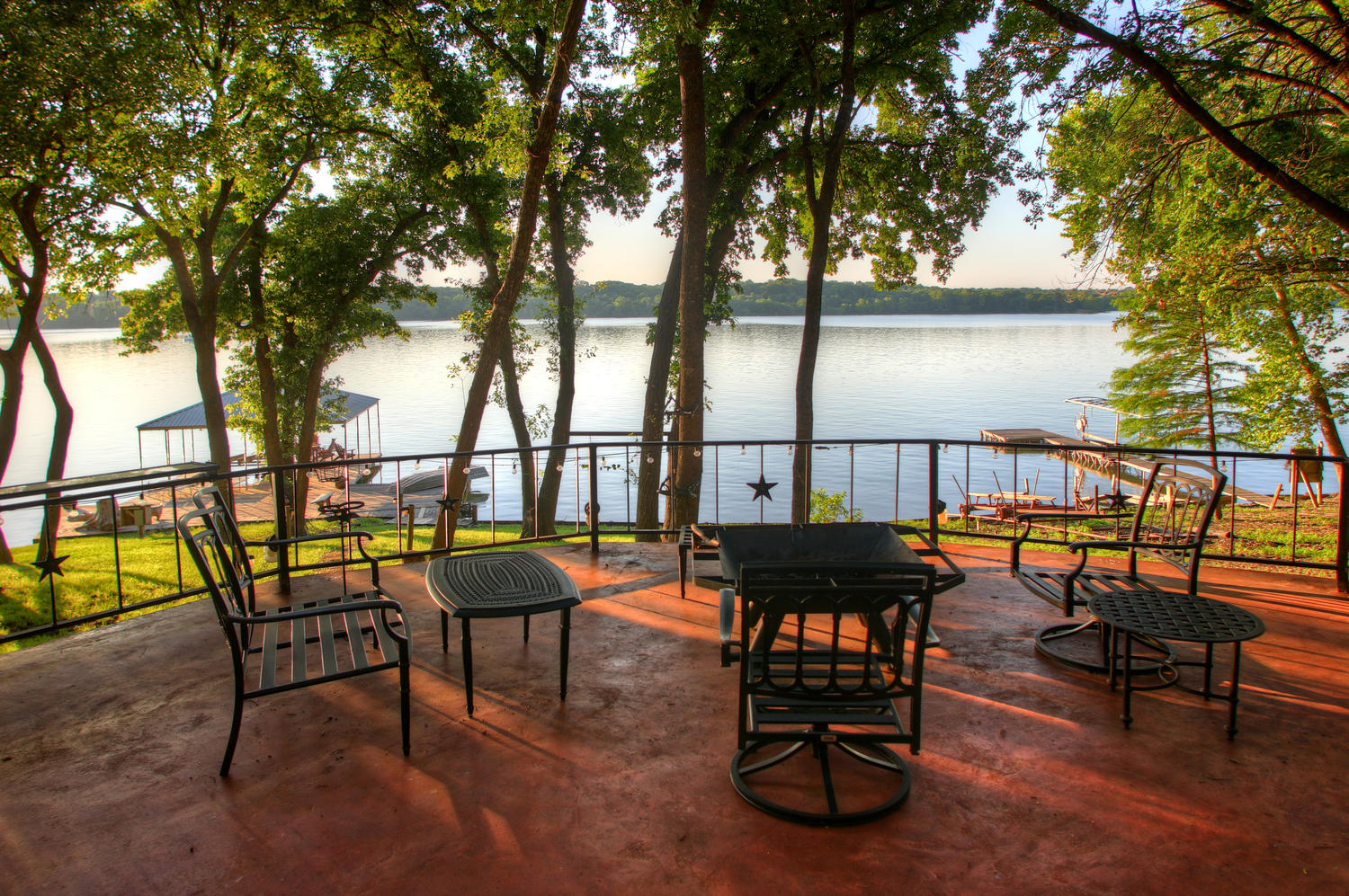 Two patios to enjoy the magnificent views