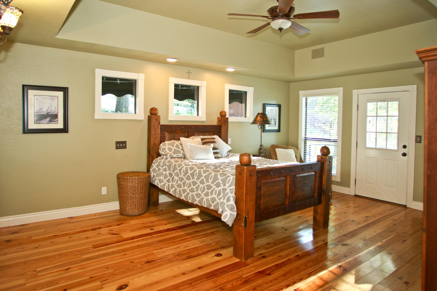 Master bedroom opens to outdoor porch